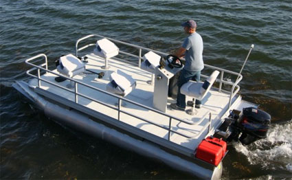 Brand New 16 Ft Five Person Elite Pontoon Fishing Boat